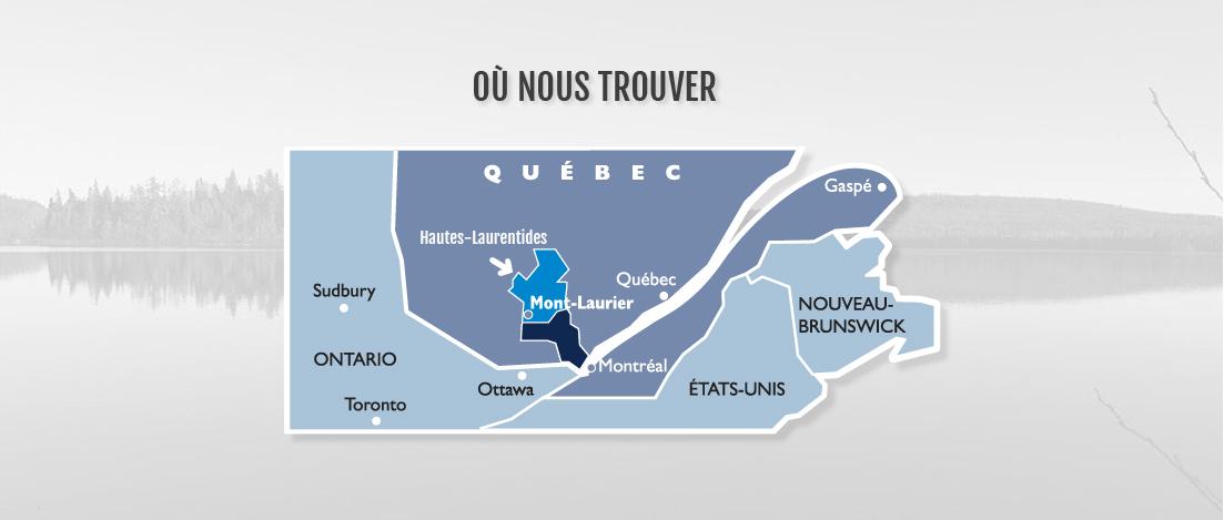 Territoire du Guide touristiques des Hautes-Laurentides