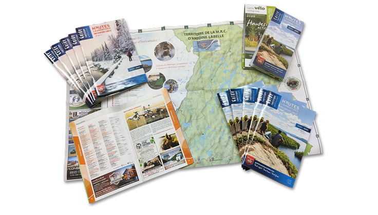 Guide et cartes touristiques des Hautes-Laurentides